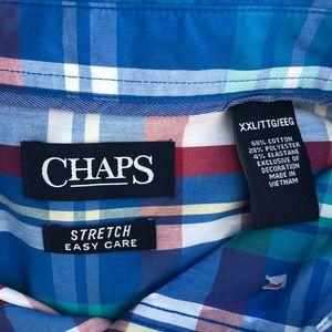 NWT XXL Chaps Stretch Long Sleeve Button Down